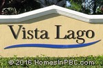 sign in front of Vista Lago in Lake Worth