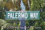 sign in front of Palermo Way in Lake Worth