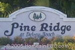 sign in front of Pine Ridge in Delray Beach