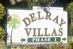 sign in front of Delray Villas I in Delray Beach