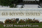 sign in front of Old Boynton Estates in Boynton Beach