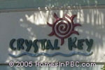 sign in front of Crystal Key in Boynton Beach