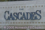 sign in front of The Cascades in Boynton Beach