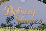 sign in front of Delray Shores in Delray Beach