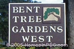 sign in front of Bent Tree Gardens West in Boynton Beach