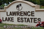 sign in front of Lawrence Lake Estates in Boynton Beach