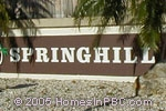 sign in front of Springhill in Lake Worth