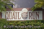 sign in front of Quail Run in Boynton Beach