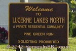 sign in front of Lucerne Lakes North in Lake Worth