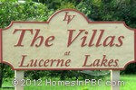 sign in front of The Villas at Lucerne in Lake Worth