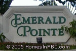 sign in front of Emerald Pointe in Delray Beach