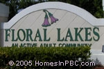 sign in front of Floral Lakes in Delray Beach