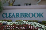 sign in front of Clearbrook in Delray Beach