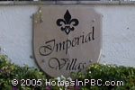 sign in front of Imperial Villas in Delray Beach