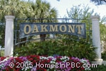 sign in front of Oakmont of Delray in Delray Beach