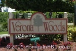 sign in front of Verona Woods in Delray Beach